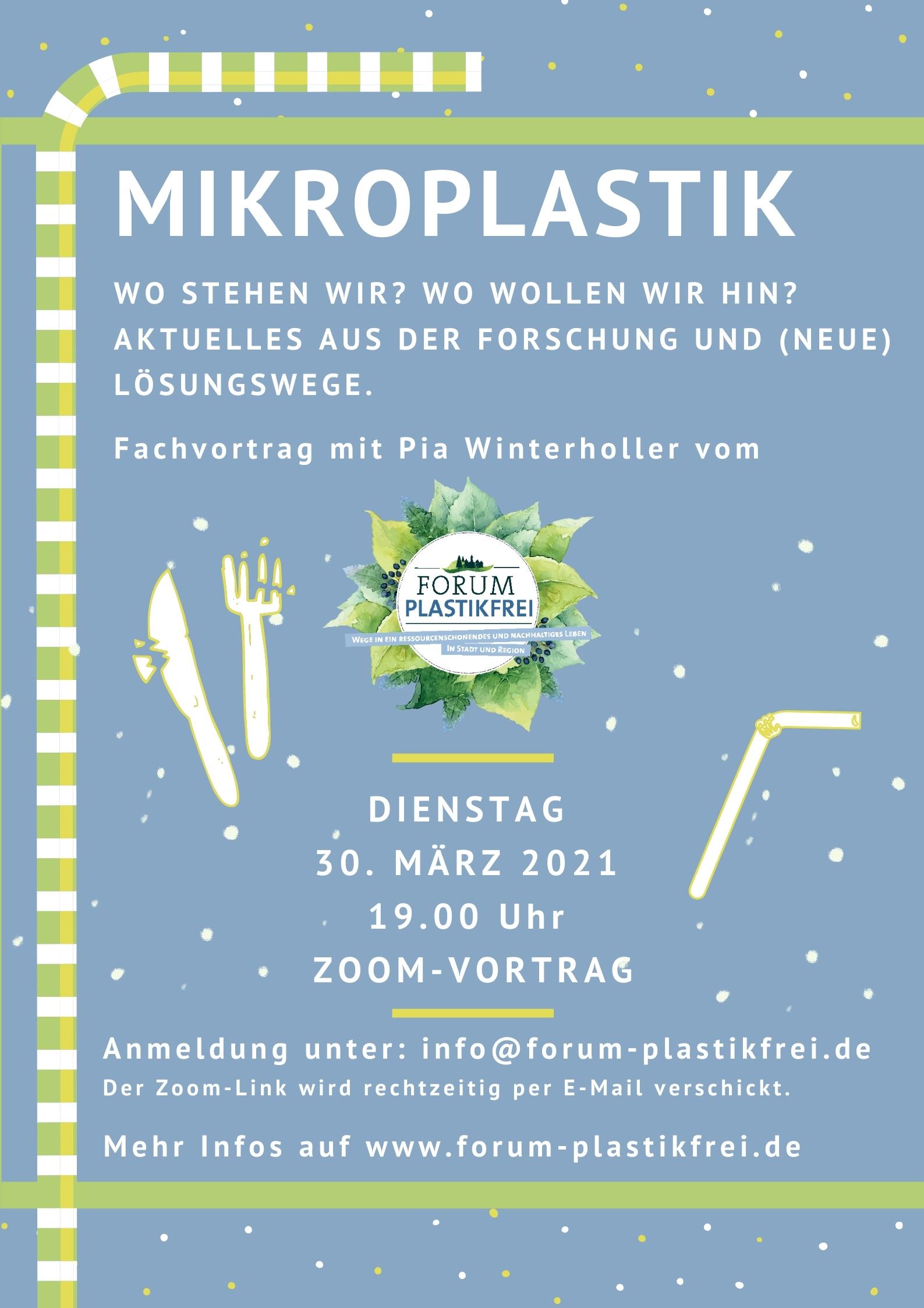 """Online-Vortrag """"Mikroplastik"""""""