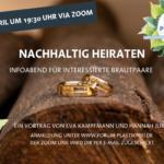 Nachhaltig Heiraten – Anmeldung zum Online-Vortrag